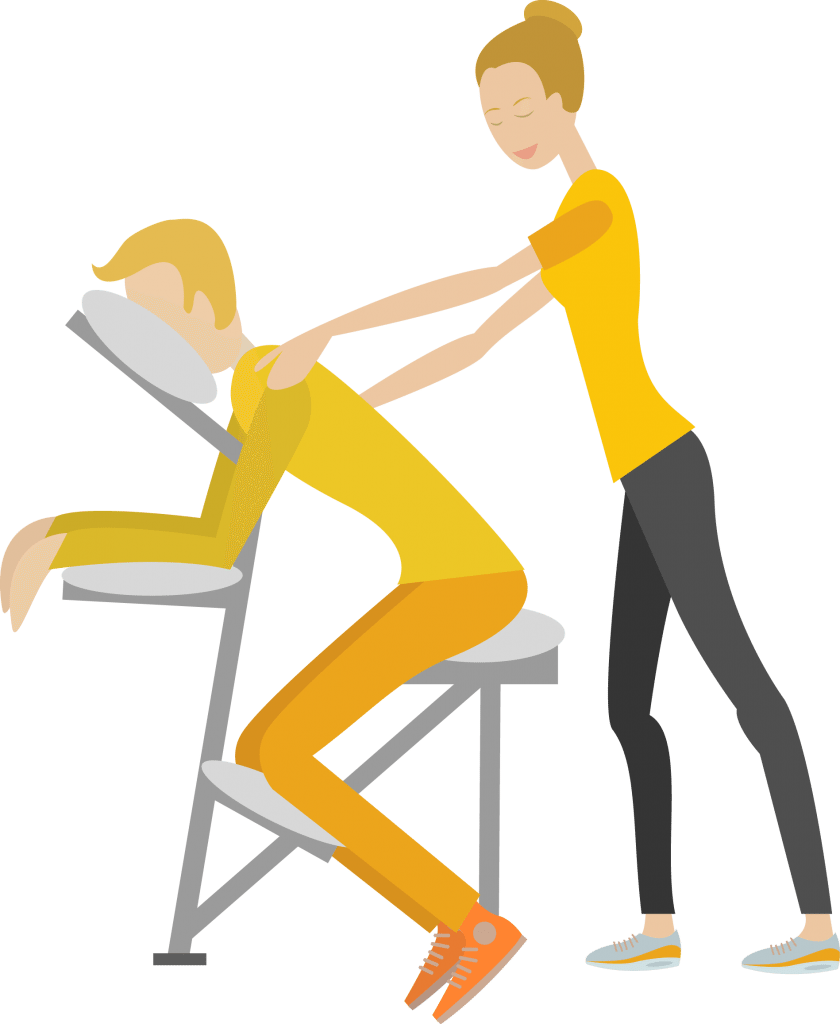 massage auf dem massagestuhl die mini oase der entspannung. Black Bedroom Furniture Sets. Home Design Ideas