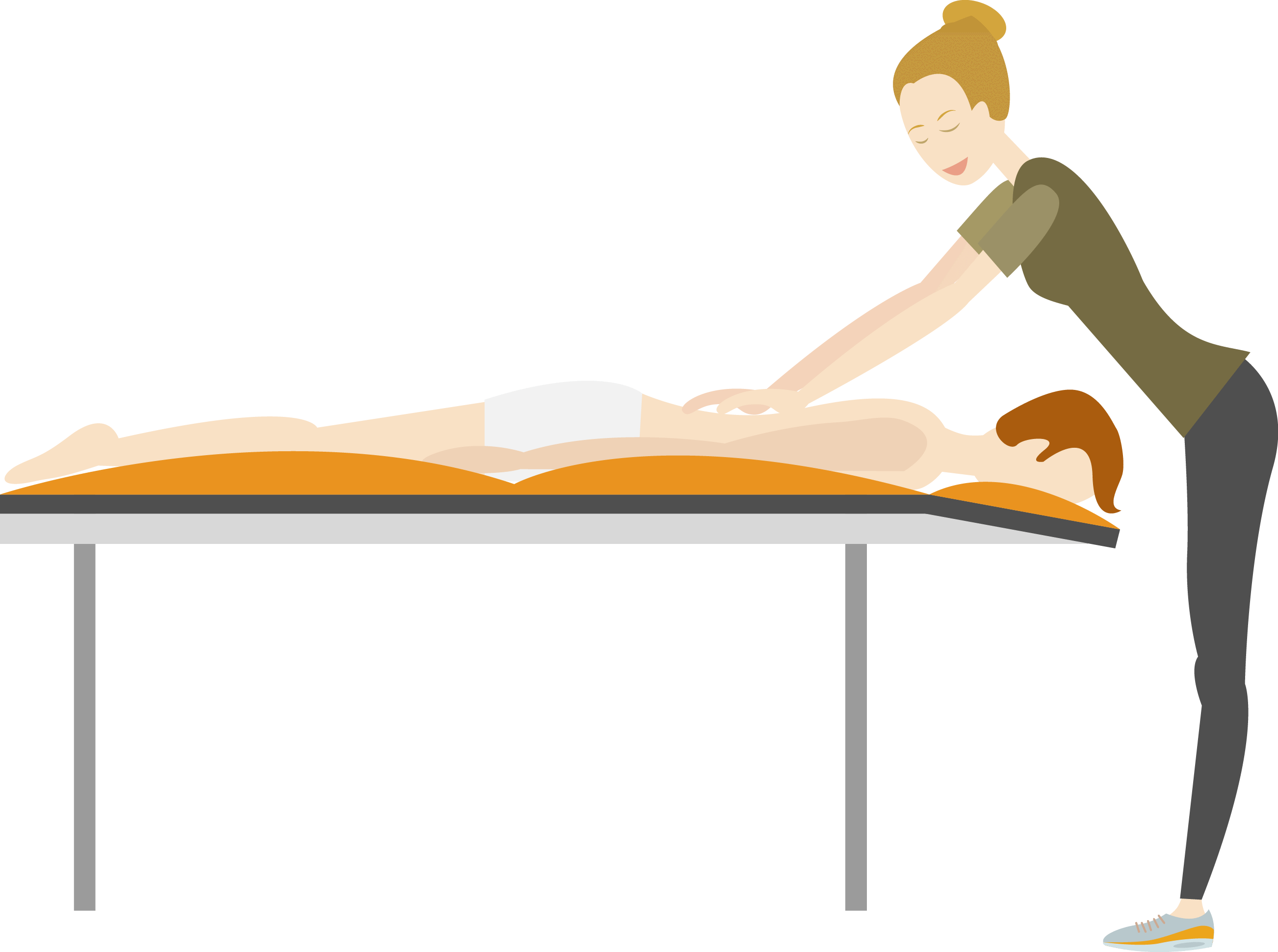 massage table flat graphic