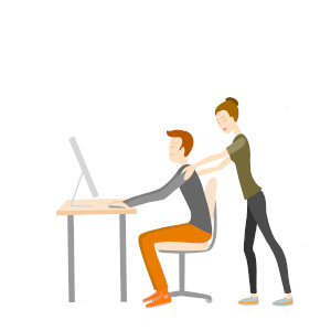 office massage flat design neckattack02