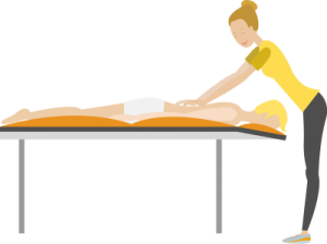 event massage flat design