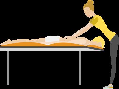 event massage flat design