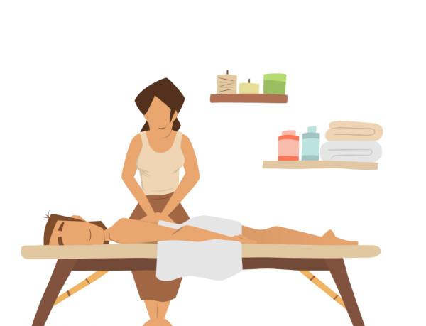Wellness Massage Hamburg flatdesign neckattack